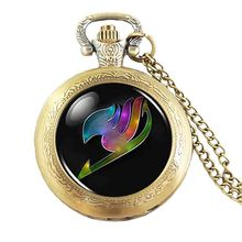 JP Anime Fairy Tail Guild Rainbow Wing pocket watch Steampunk Necklace doctor who 1pcs/lot chain jewelry women vintage chain