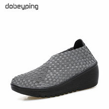 dobeyping Spring Autumn Shoes Woman Hand Woven Flat Platform Women Shoes Thick Heel Womens Loafers Wedges Ladies Swing Shoe