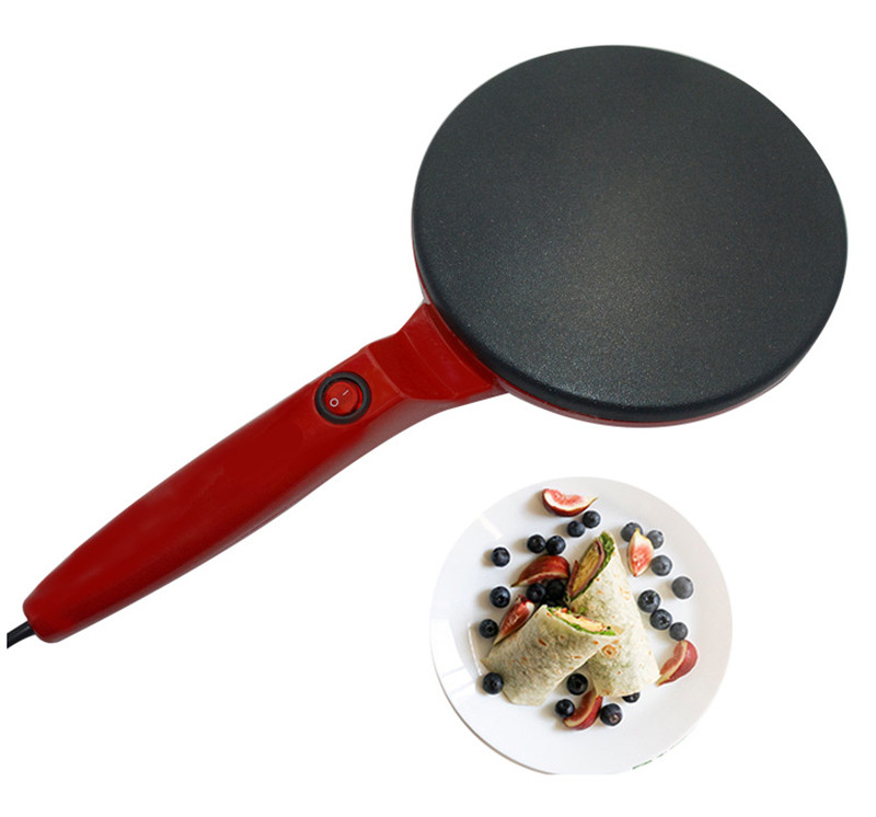 220V/600W Non-stick Electric Crepe Pizza Maker Pancake Machine Non-stick Griddle Baking Pan Cake Machine Kitchen Cooking Tools