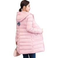 Women 2019 Winter Cotton Clothing New Long Fashion Slim Hooded Cotton Jacket Winter Coat Women Parkas Thin Coat Lady Jacket D155