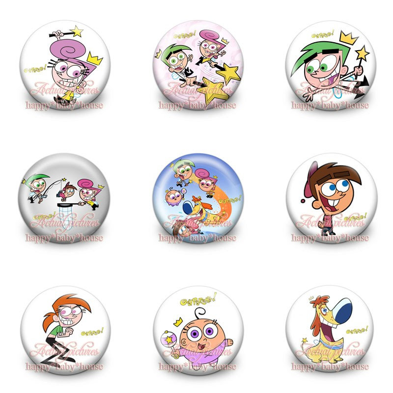 Bag Parts & Accessories Fashion Style Mixed 90pcs Fairly Oddparents Novelty Buttons Pins Badges,round Badges,30mm Diameter,accessories For Clothing/bags,party Gifts Latest Technology