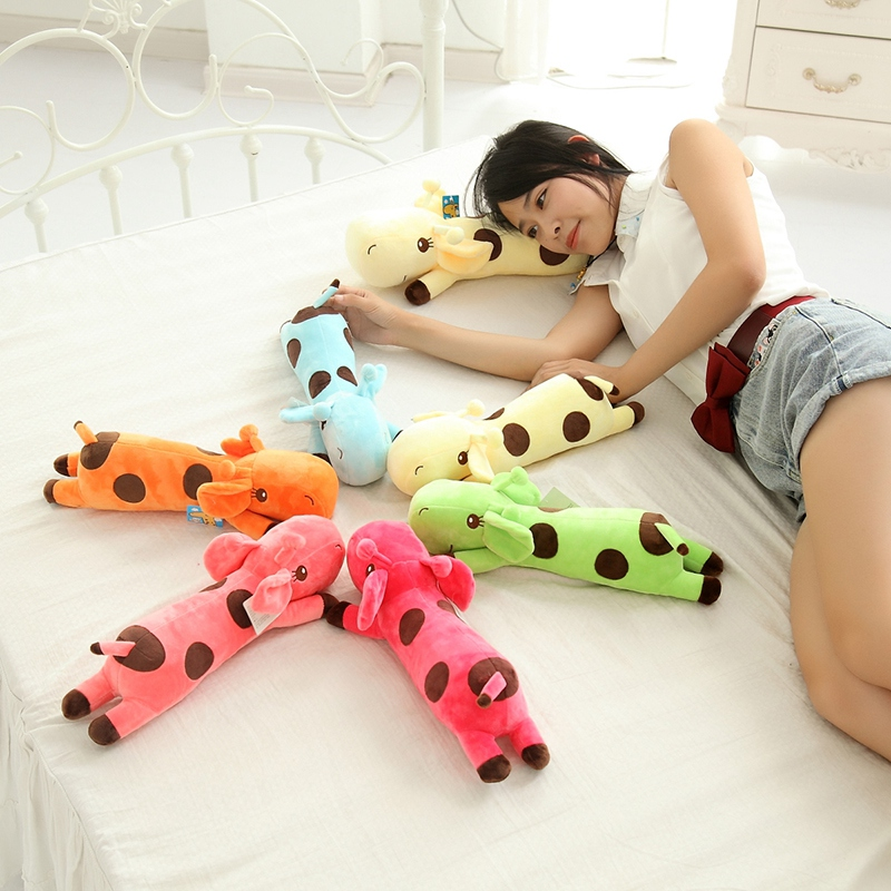 35cm Plush Lie Giraffe Pillow Staffed Deer Plush Toy Nap Pillow Christmas Gift High Quality