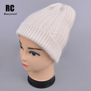 Image 2 - [Rancyword] באיכות טובה כובעי נשים של בימס כובע אביב סתיו סרוג עם צמר כובעי gorros חדש הגעה פופולרי RC1223 1