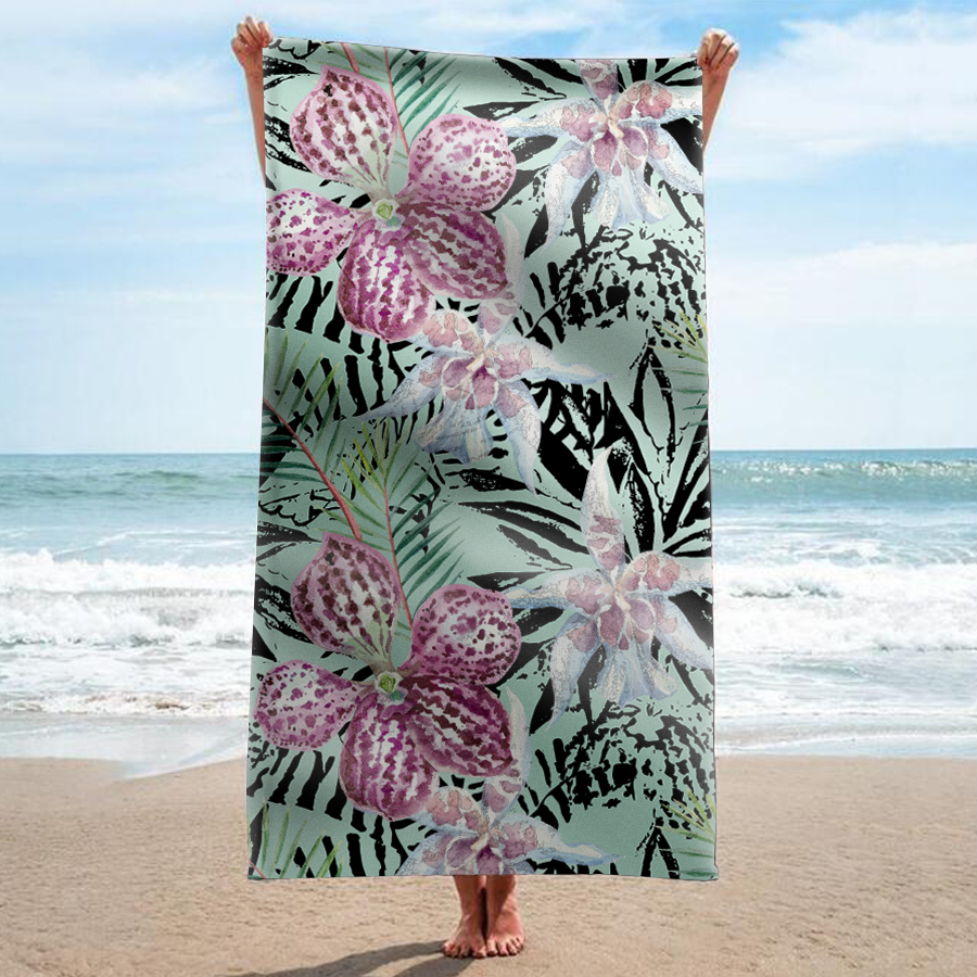 Sand Free Beach Towel Blanket Quick Dry Super Absorbent Microfiber w// Carry Bag