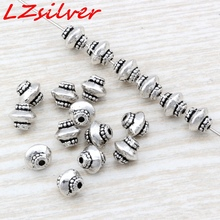 Hot Sale !  10 pcs Tibetan Silver Beaded Beads Spacers 6.5 x7 x6.5mm ab791