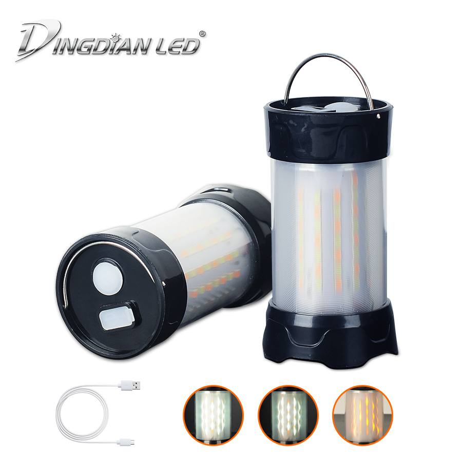 Carp Bivvy Fishing Camping Lantern Mini USB Rechargeable Light 3W DC5V Hanging Hook Tent AAA*3/18650*1 for camping