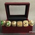 6 шт./компл. Бесплатная Доставка Высокого Качества 1961 1965 1966 1967 1996 2010 Green Bay Packers Чемпионат Кольцо, рождественский Подарок кольцо
