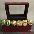 6pcs/set Free Shipping High Quality 1961 1965 1966 1967 1996 2010 Green Bay Packers Championship Ring Set , Christmas Gift ring