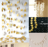 35pieces Bojar New 4m Long Shining Stars Hanging Paper Garlands String Chain Wedding Party Home Birthday Kids