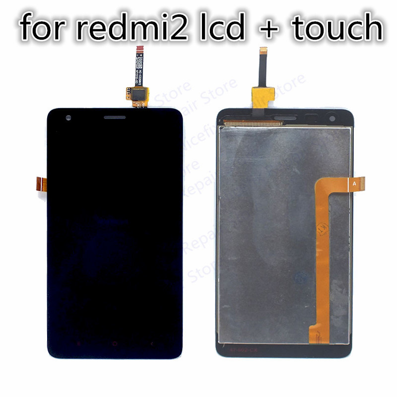 Mobile Phone Parts For Xiaomi Redmi 2 Lcd Display+touch Screen Panel Digitizer Assembly Replacement For Xiaomi Hongmi 2 Red Rice 2 Free Shipping