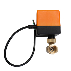 Image 3 - DN15/DN20/DN25 Electric Motorized Brass Ball Valve DN20 AC 220V 2 Way 3 Wire with Actuator Manual Switch Free Ship