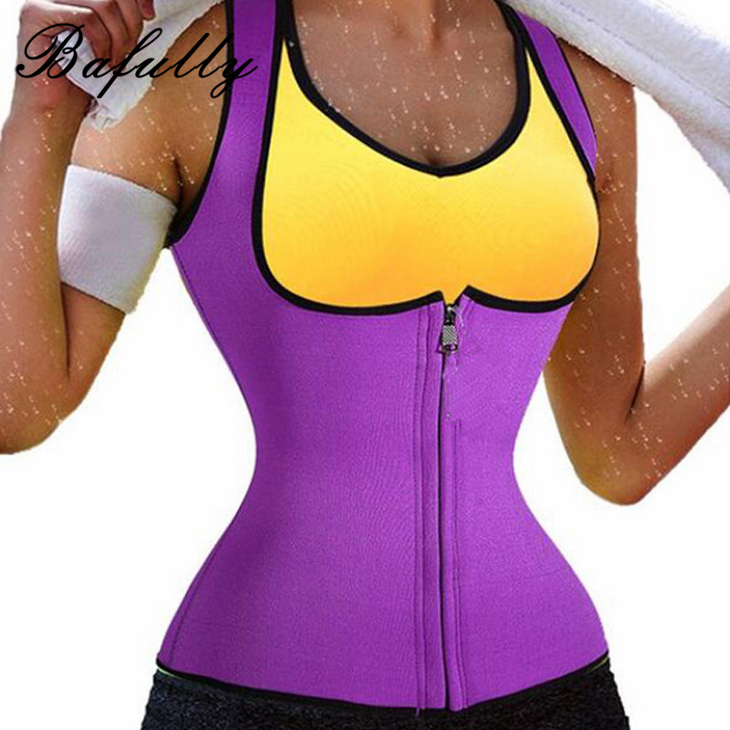 Thermo Hot Neoprene Tank Tops Waist Trainer Vest Trimmer Sweat Weight Loss Tummy Fat Burner Vest