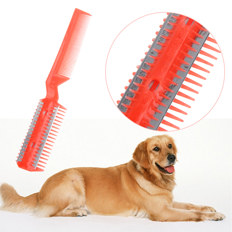 New Pet Hair Trimmer Grooming Tool With Comb And 2 Razor For Pet Dog Cat Hair Cutting  Dog Hair Trimmer #5