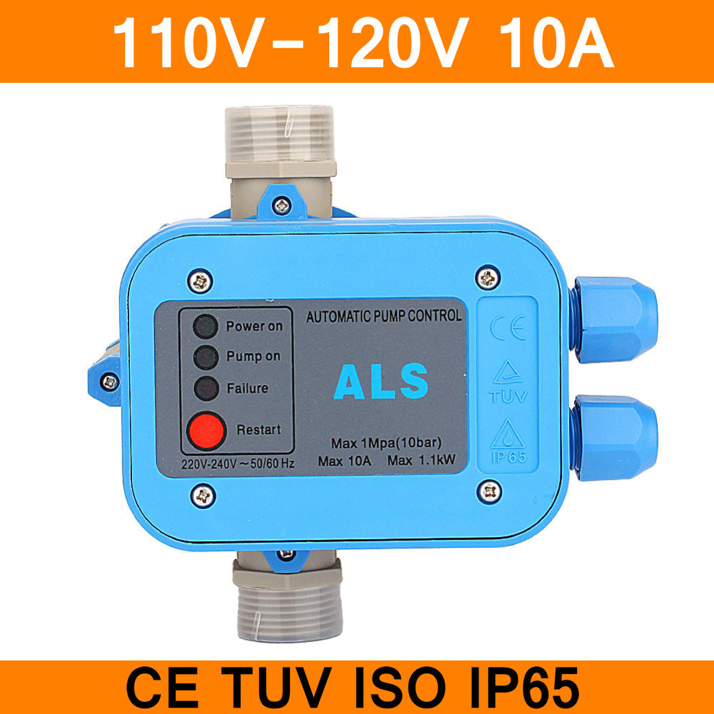 110V Automatic Pump Control Water Pump Pressure Controller Electric Electronic Switch 50/60Hz IP65 10A CE TUV Certificate amz motorcycle helmet retro vintage jet scooter helmet bicycle racing harley open face helmets capacete casque moto dot approved