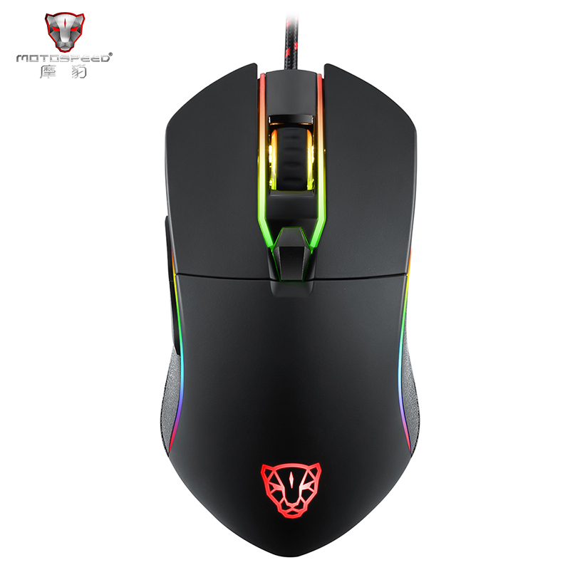 Motospeed V30 Professional USB Wired Gaming Mouse Optical Mouse Adjustable 3500DPI Resolution RGB LED Backlight for PC Gamer sunsonny t m30 usb wired 6 button 600 1000 1600dpi adjustable led gaming mouse golden red