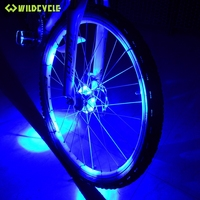 Leadbike Bike Vorn Hinten Naben Licht Luz Bicicleta MTB Radfahren Flash 8 LED Lampe Sprach Radlichter Fahrradzubehör, 3-Modes