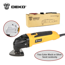 DEKO 220V AC Variable Speed Electric Multi-function Oscillating Tool Multi-Tool DIY Power Tool Electric Trimmer w/ 8 Accessories