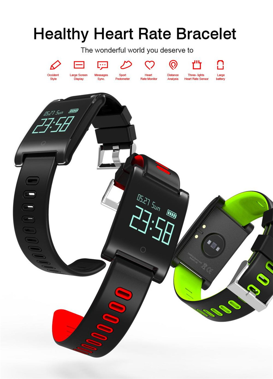 Makibes DM68 PLUS Smart Bracelet (1)