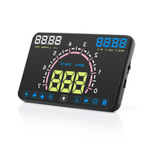 Car HUD Head-up Display LED Windscreen Projector OBD2 Scanner Speed Warning Fuel Consumption Display Diagnostic Detect fault cod