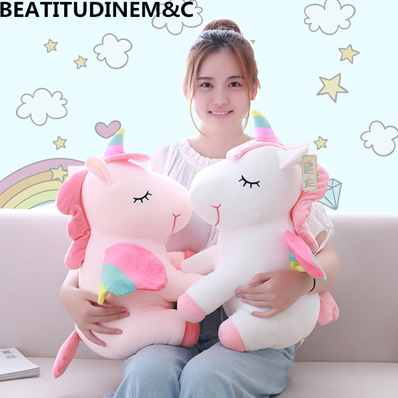1Pcs 25cm Fat Rainbow Style Unicorn Plush Toy Animal Stuffed Toys Children Toys  Soft High Quality Toy Gift