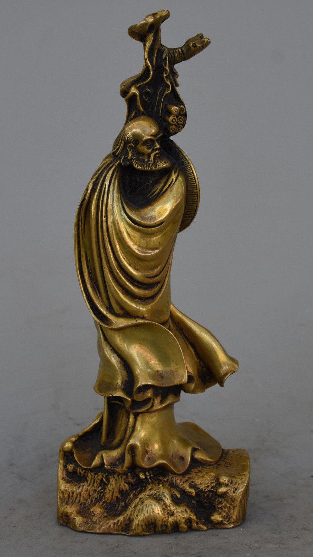 Chinese Buddhism Brass Arhat Damo Bodhidharma Dharma Buddha StatueChinese Buddhism Brass Arhat Damo Bodhidharma Dharma Buddha Statue