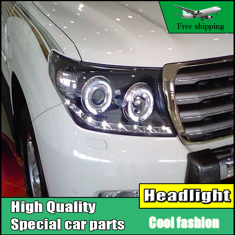 Car Styling Head Lamp case For Toyota LAND CRUISER LC200 Headlights LED Headlight DRL Lens Double Beam Bi-Xenon HID Accessories car styling head lamp case for skoda superb 2009 2013 headlights led headlight drl lens double beam bi xenon hid accessories