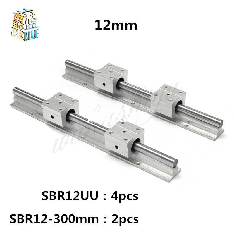 Free Shipping 12mm linear rail  SBR12 300mm 2 pcs and 4 pcs SBR12UU linear bearing blocks for cnc parts 12mm linear guideFree Shipping 12mm linear rail  SBR12 300mm 2 pcs and 4 pcs SBR12UU linear bearing blocks for cnc parts 12mm linear guide
