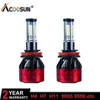 Super Bright Car LED Headlight Car Light Kit LED H4 H7 H11 9005 9006 CSP Chips