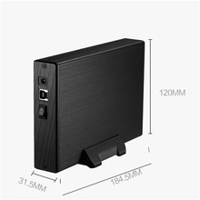 3.5″Inch SATA HDD Enclosure External USB3.0 HDD Cover Case Hard Drive Disk Storage Max up to 4TB Supports plug-play Aluminium