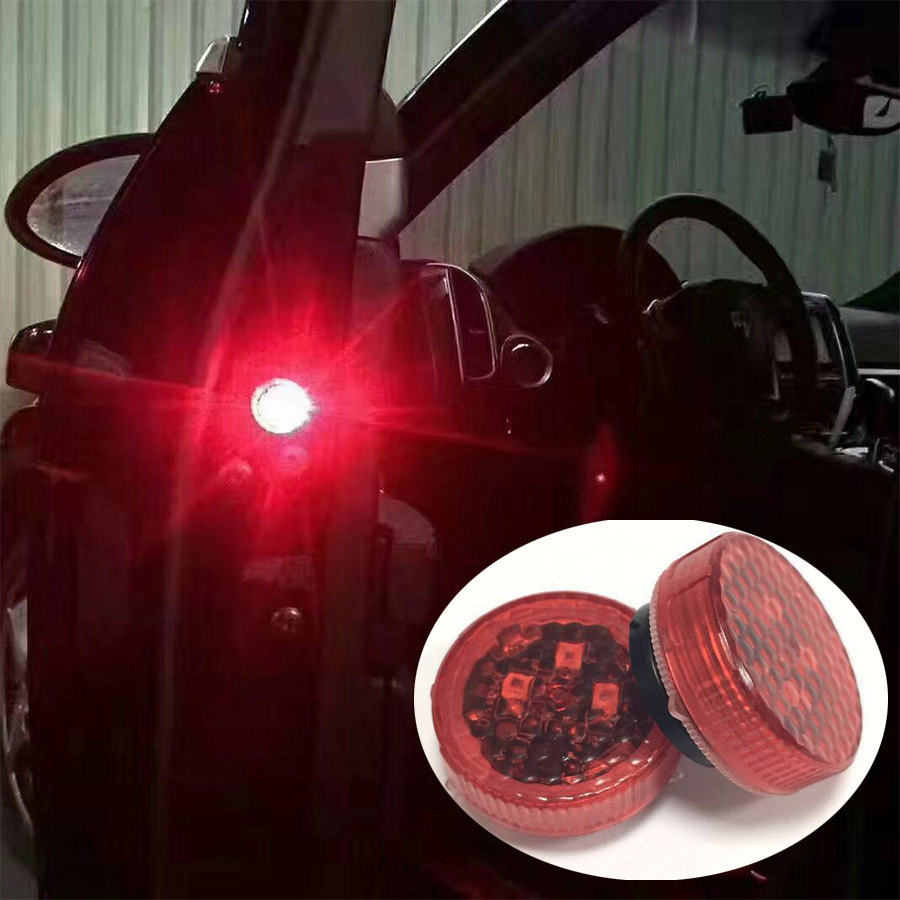 4PCS Car Door Open Flashing Led Warning Light Strobe Light Red Light Battery Power For Universal Car VW Volkswagen Ford Toyota nobili nobili кашемировое платье 165247