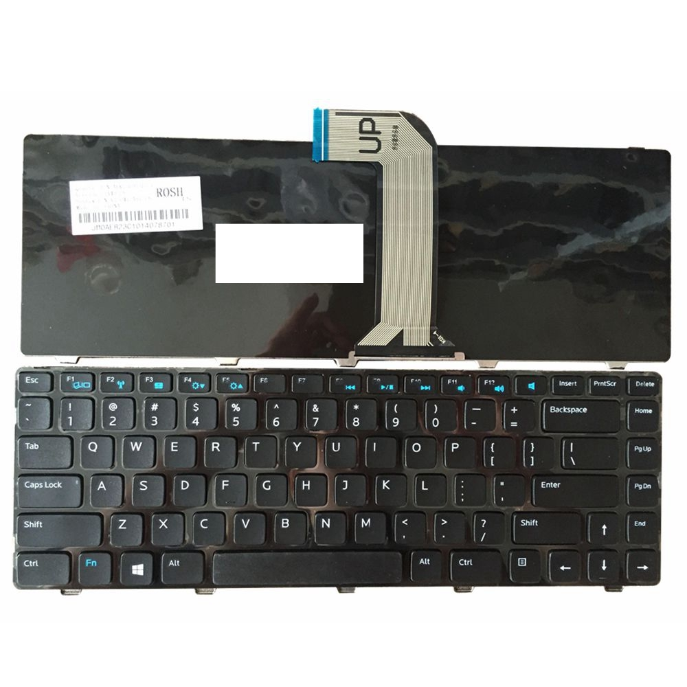 US Black New English Replace Laptop Keyboard For DELL For INSPRON 3421 14R-2158 V2421 15Z 5523