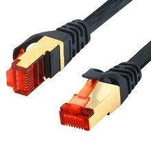 CAT6 Ethernet Network Cable Flat RJ45 Connector 0.5m 1m 2m 3m 5m 10m 15m Gigabit Patch Lan Router Cable for Modem Computer PS3