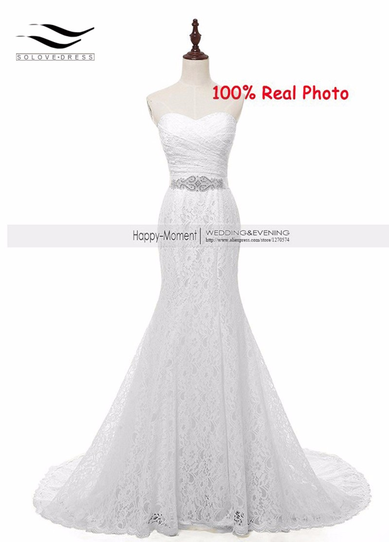 Lace Wedding Dress Buy : Aliexpress buy in stock real photo cheap