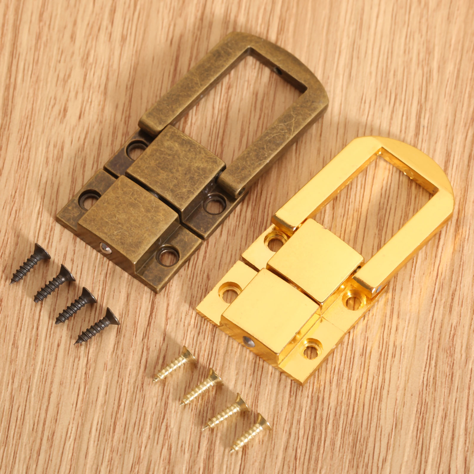 1Pc 30x24mm Antique Bronze/Gold Box Hasps Metal Lock Catch Latches For Jewelry Chest Box Suitcase Buckle Clasp Vintage Hardware