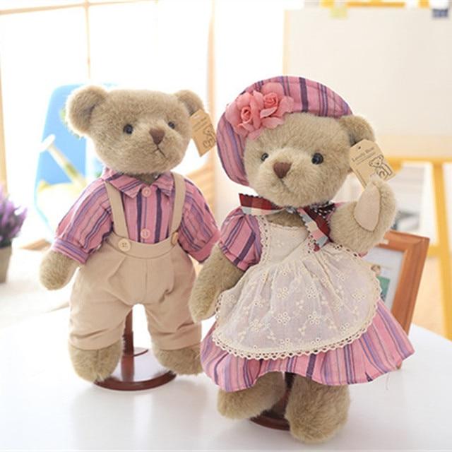 Kawaii Urso de Pelúcia Conjunta na Saia Casal Ursos de Pelúcia Brinquedos  de Pelúcia Bonecas de 82ea6cb8e9