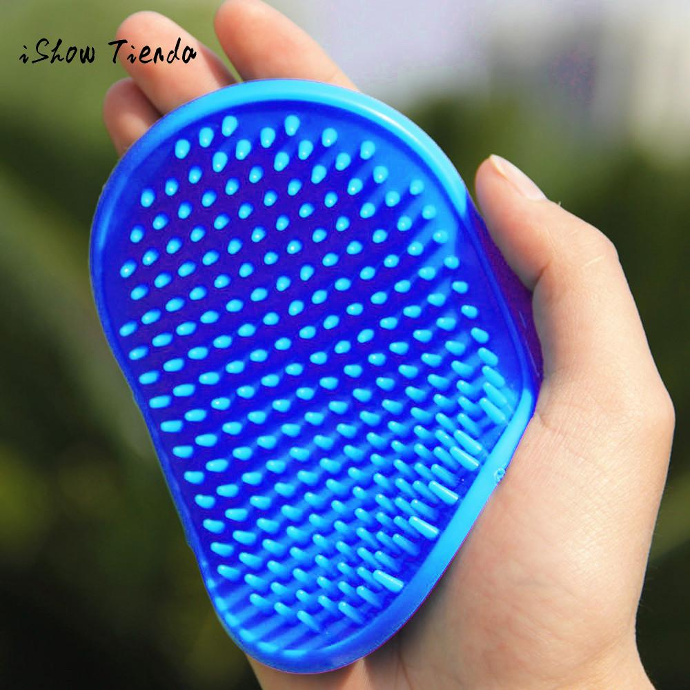 Pet Dog Cat Bath Brush Comb Rubber Glove Hair Fur Grooming Massaging Massage Mit 23x12cm Pet Shower Dog Brushes Drop Shipping