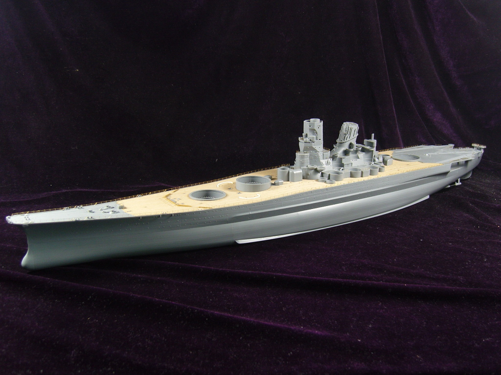 With ARTWOX 78025 Battleship Tamiya Yamato wood new deck AW10050 недорого