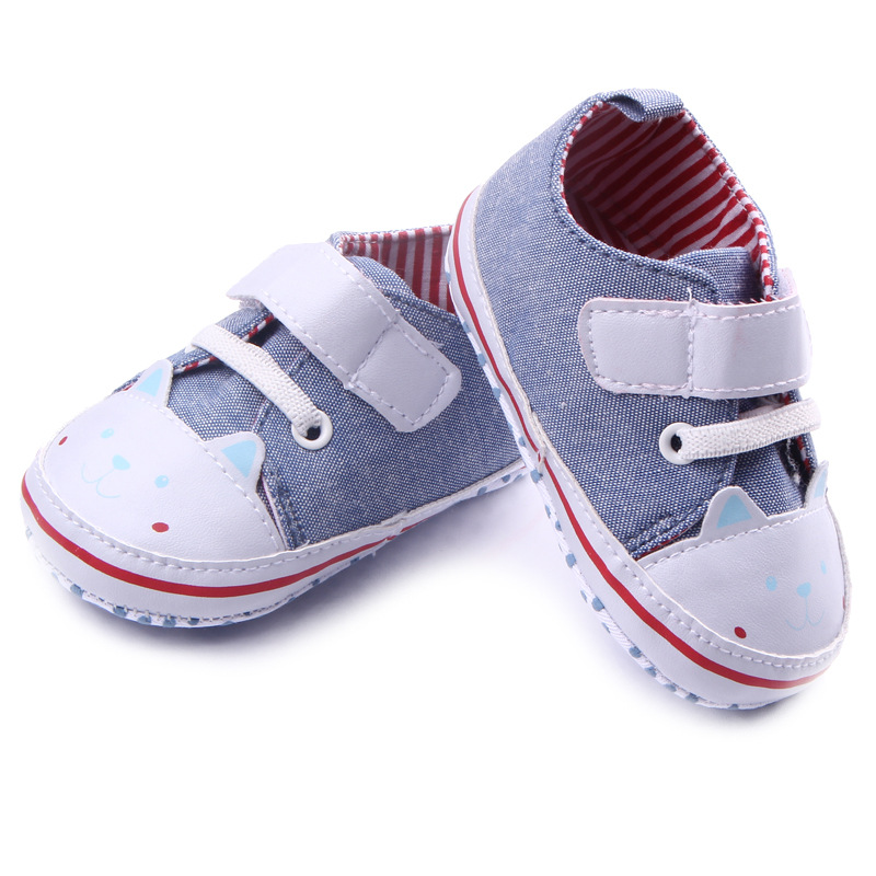 Hot Fashion Canvas Baby Shoes Soft Sole Cute Cat Toddler ...