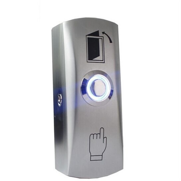 Surface mounting Zinc Alloy Led Door Exit Push Release Button Switch with box for access control system 10pcs a lot door access control exit button door release exit switch good quality zinc alloy push release button with led light