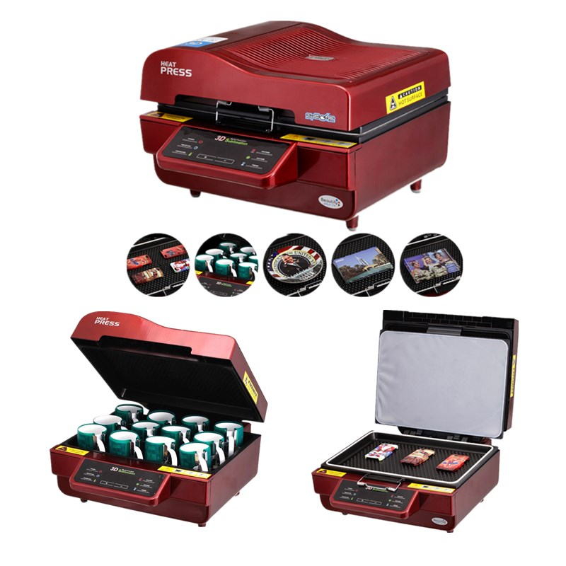 ST-3042 3D Sublimation Heat Press Printer 3D Vacuum Heat Press Machine for Cases Mugs Plates Glasses hot sell 3d sublimation heat press printer 3d vacuum heat press printer machine printing for cases mugs plates glasses