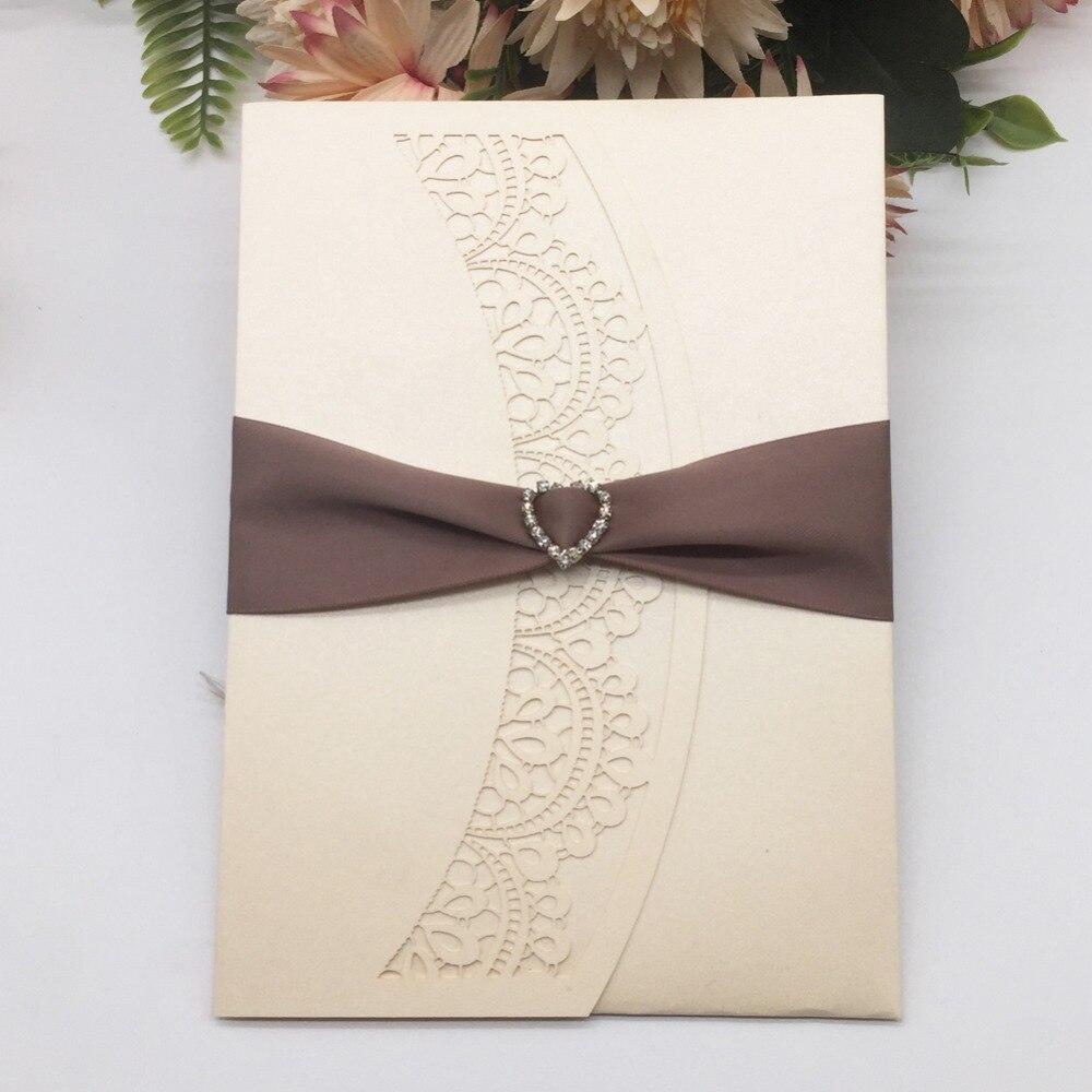 Свадебные открытки с лентой