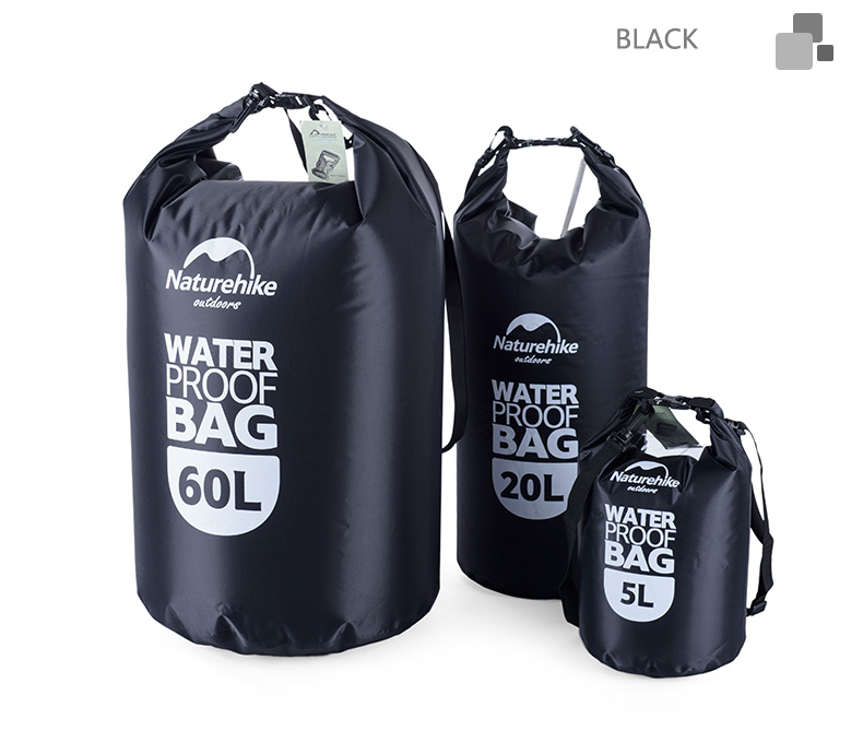 Naturehike 5L 20L 60L Wasserdichte Tasche Lagerung Trocken Sack Tasche Für Kanu Kajak Rafting Outdoor Sport Taschen Travel Kit Ausrüstung