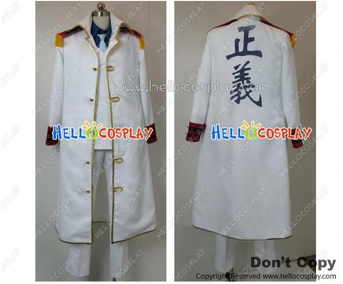 One Piece Cosplay Monkey D. Garp Costume Warring States Coat H008