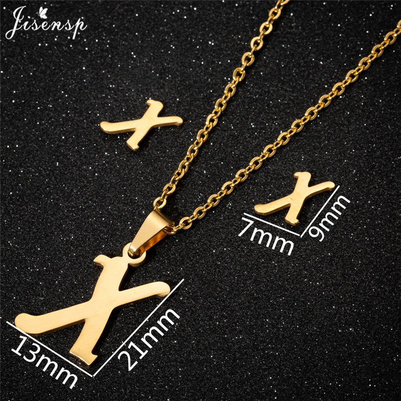 Jisensp Personalized A-Z Letter Alphabet Pendant Necklace Gold Chain Initial Necklaces Charms for Women Jewelry Dropshipping 48