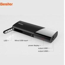100% Оригинал 10000 мАч Besiter зарядки Мощность банк Портативный Мощность Bank внешняя Батарея пакет со светодиодной для iphone мобильных телефонов