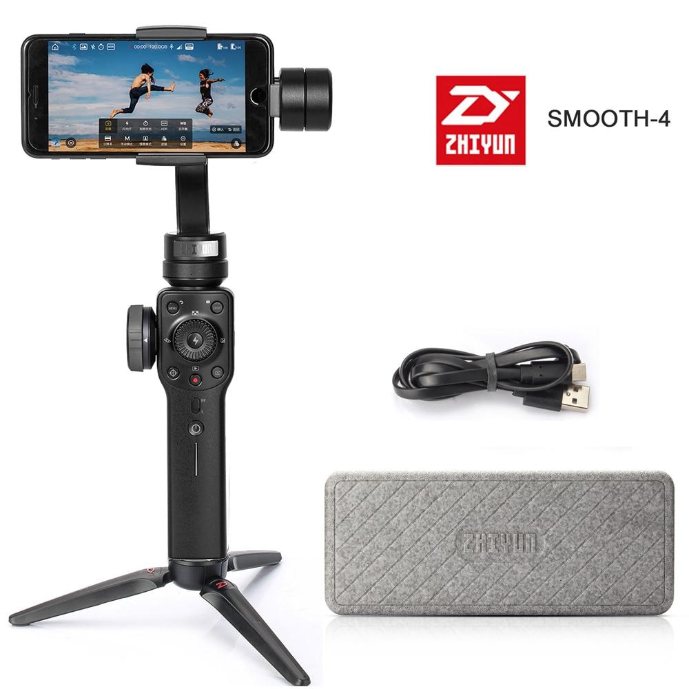 ZHIYUN lisse 4 smartphone Ordinateur De Poche 3-Axis Cardan Stabilisateur Portable pour Smartphone iPhone Caméra Cardan zhi yun