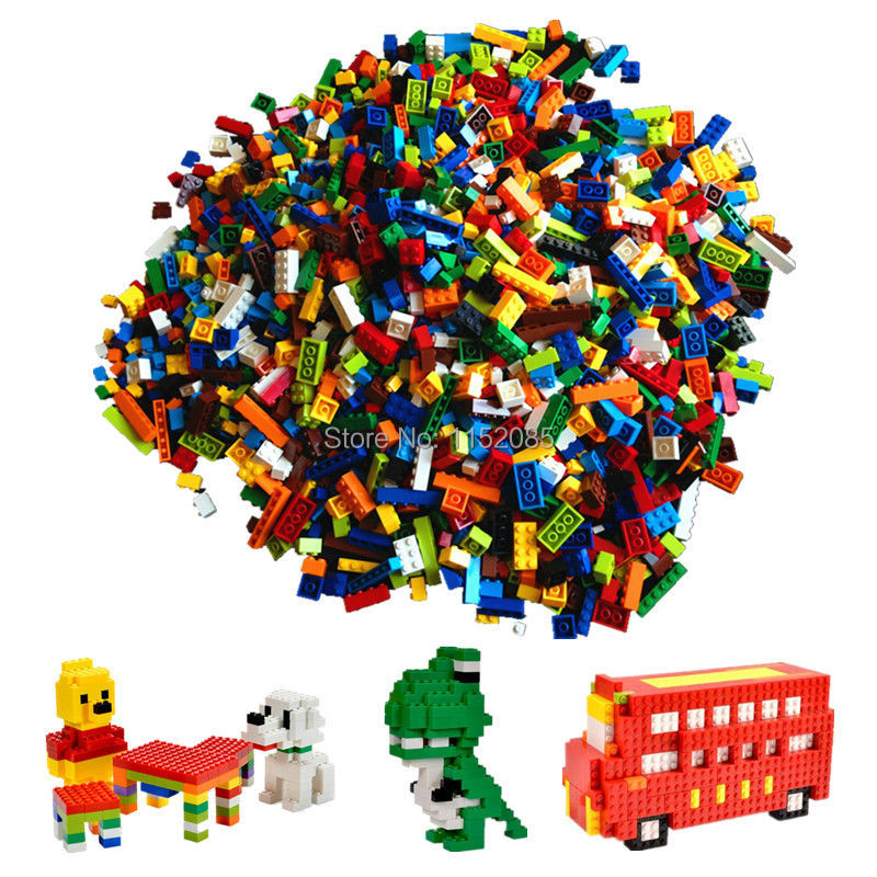 1000pcs Classic Building Bricks Set DIY Toys for Children Educational Building Blocks Bulk Bricks Compatible with legoend kids plastic building blocks set educational toys bricks parts compatible with lego diy toys for children 2x8 dots 20pcs lot