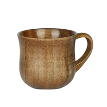 Wooden Jujube Beer Cup Solid Milk Coffee Mug Water Tea Cup Reusable Drinking Mug With Handle For Home Restaurant Bar Daily Use