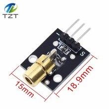 KY-008 650 нм лазерный модуль датчика 6 мм 5 в 5 мВт красный лазерный точечный диод Медная головка для Arduino
