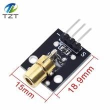 KY-008 650nm Laser sensor Module 6mm 5V 5mW Red Laser Dot Diode Copper Head for Arduino